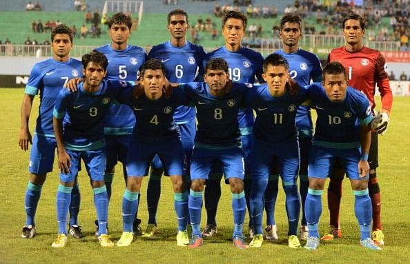 The Indian Football Team at SAFF 2013