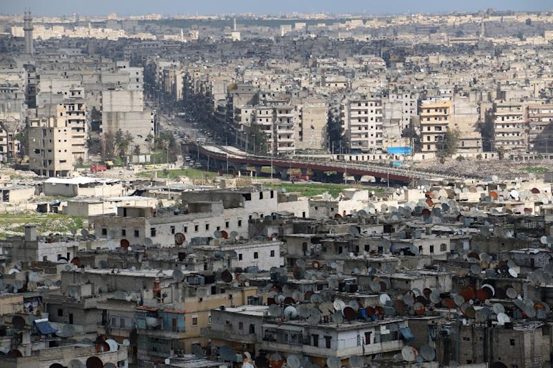 Once Syria's commercial hub, Aleppo has been devastated by fighting that began in mid-2012 (AFP Photo/Zein al-Rifai)