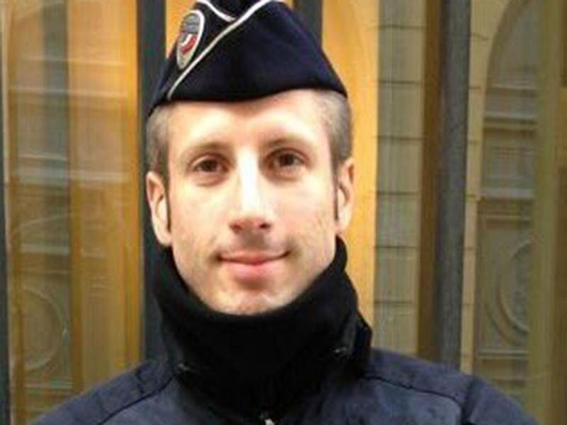 Xavier Jugelé, a French police officer who was shot dead by a gunman on the Champs Elysees on 20 April (Flag/Twitter)