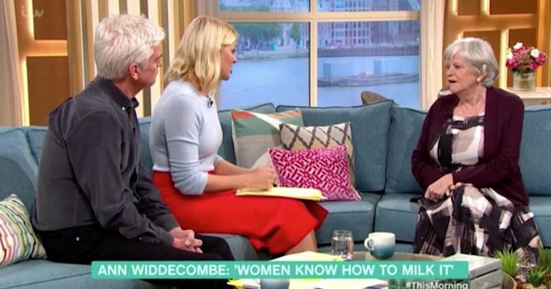 Ann Widdecombe airs her views on women's rights on 'This Morning' (Photo: ITV)