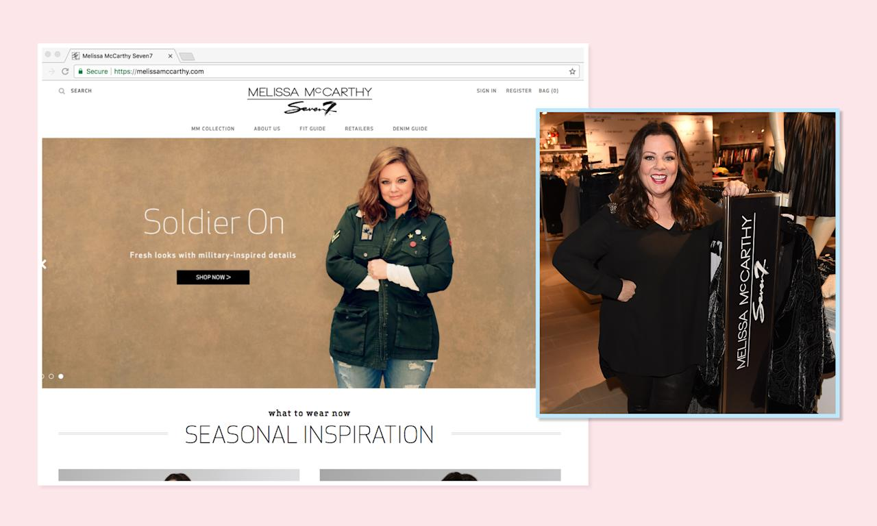 """<p>Speaking of denim, actress Melissa McCarthy lends her name and eye to a collaborative <a rel=""""nofollow"""" href=""""https://melissamccarthy.com/shop/all"""">line with jeans brand Seven7</a>, though everything from jumpsuits to outerwear is available in the collection. (Photo: Melissa McCarthy Seven7/Getty Images) </p>"""