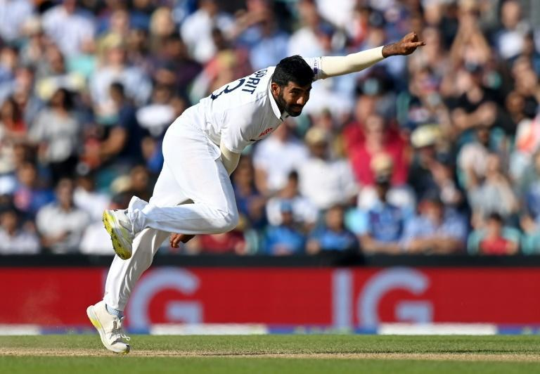 Swing king: Jasprit Bumrah in action during India's 157-run win in the fourth Test against England at the Oval (AFP/Glyn KIRK)