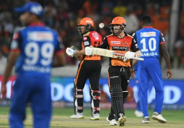 David Warner and Jonny Bairstow were teammates for Sunrisers Hyderabad in the 2019 Indian Premier League (AFP Photo/NOAH SEELAM)
