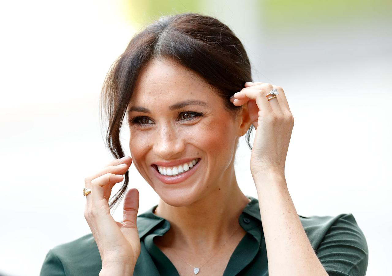 """<ul> <li>""""I love that Meghan does things her own way. She's gracious, compassionate, and has her own way of fitting into and bringing positivity to the royal family. She also made a lot of people <a href=""""https://www.popsugar.com/beauty/Meghan-Markle-Doesnt-Cover-Up-Her-Freckles-44575216"""" class=""""ga-track"""" data-ga-category=""""Related"""" data-ga-label=""""https://www.popsugar.com/beauty/Meghan-Markle-Doesnt-Cover-Up-Her-Freckles-44575216"""" data-ga-action=""""In-Line Links"""">fall in love with their freckles</a> again, and who doesn't love her for that?"""" - <em>Tori Crowther, UK assistant editor</em> </li> <li>""""She's not afraid to be herself and stay true to what makes her who she is. I can't imagine how hard it must be to stay so composed and graceful with <a href=""""https://www.popsugar.com/news/Meghan-Markle-Racism-Op-Ed-45574616"""" class=""""ga-track"""" data-ga-category=""""Related"""" data-ga-label=""""https://www.popsugar.com/news/Meghan-Markle-Racism-Op-Ed-45574616"""" data-ga-action=""""In-Line Links"""">everything that goes on around her</a> and in the press, but she manages to do it all with such a presence!"""" - <em>Amanda McKelvey, social media strategist</em> </li> <li>""""I just love how big Meghan's heart is. Even before she was a royal, Meghan always had <a href=""""https://www.popsugar.com/celebrity/What-Meghan-Markle-Royal-Patronages-45661694"""" class=""""ga-track"""" data-ga-category=""""Related"""" data-ga-label=""""https://www.popsugar.com/celebrity/What-Meghan-Markle-Royal-Patronages-45661694"""" data-ga-action=""""In-Line Links"""">a passion for philanthropy</a>. Whether <a href=""""https://www.popsugar.com/celebrity/Meghan-Markle-International-Women-Day-Panel-Speech-Video-45893385"""" class=""""ga-track"""" data-ga-category=""""Related"""" data-ga-label=""""https://www.popsugar.com/celebrity/Meghan-Markle-International-Women-Day-Panel-Speech-Video-45893385"""" data-ga-action=""""In-Line Links"""">she was fighting for gender equality</a> or simply encouraging others to adopt pets instead of buying them, Meghan has always led by example and wanted to"""