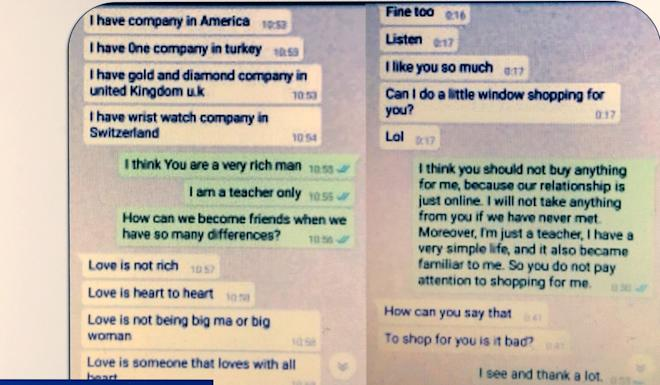 Online scams for money using dating sites and stranded in china