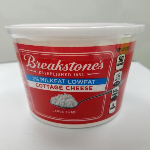 Select Varieties of Breakstone's Cottage Cheese Are Voluntarily Being Recalled Due to Potential Presence of Foreign Material