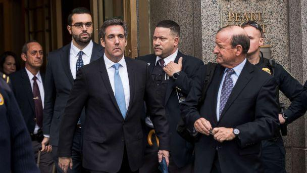 PHOTO: Michael Cohen, longtime personal lawyer and confidante for President Donald Trump, exits the United States District Court Southern District of New York, April 16, 2018, in New York City. (Drew Angerer/Getty Images)