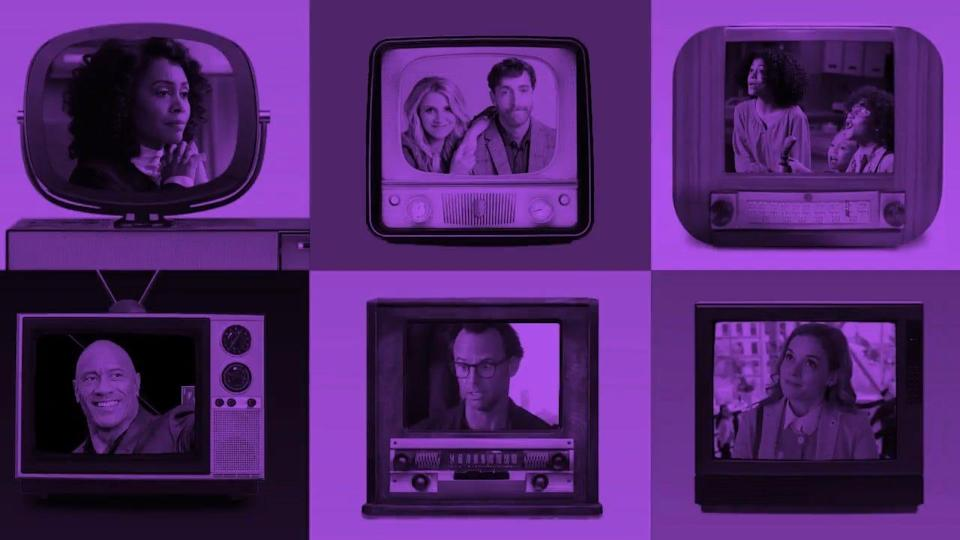 """Vote to save your favorite TV shows like, (clockwise from top left): """"All Rise,"""" """"B Positive,"""" """"Mixed-ish,"""" """"Zoey's Extraordinary Playlist"""" """"The Unicorn"""" and """"Young Rock."""""""