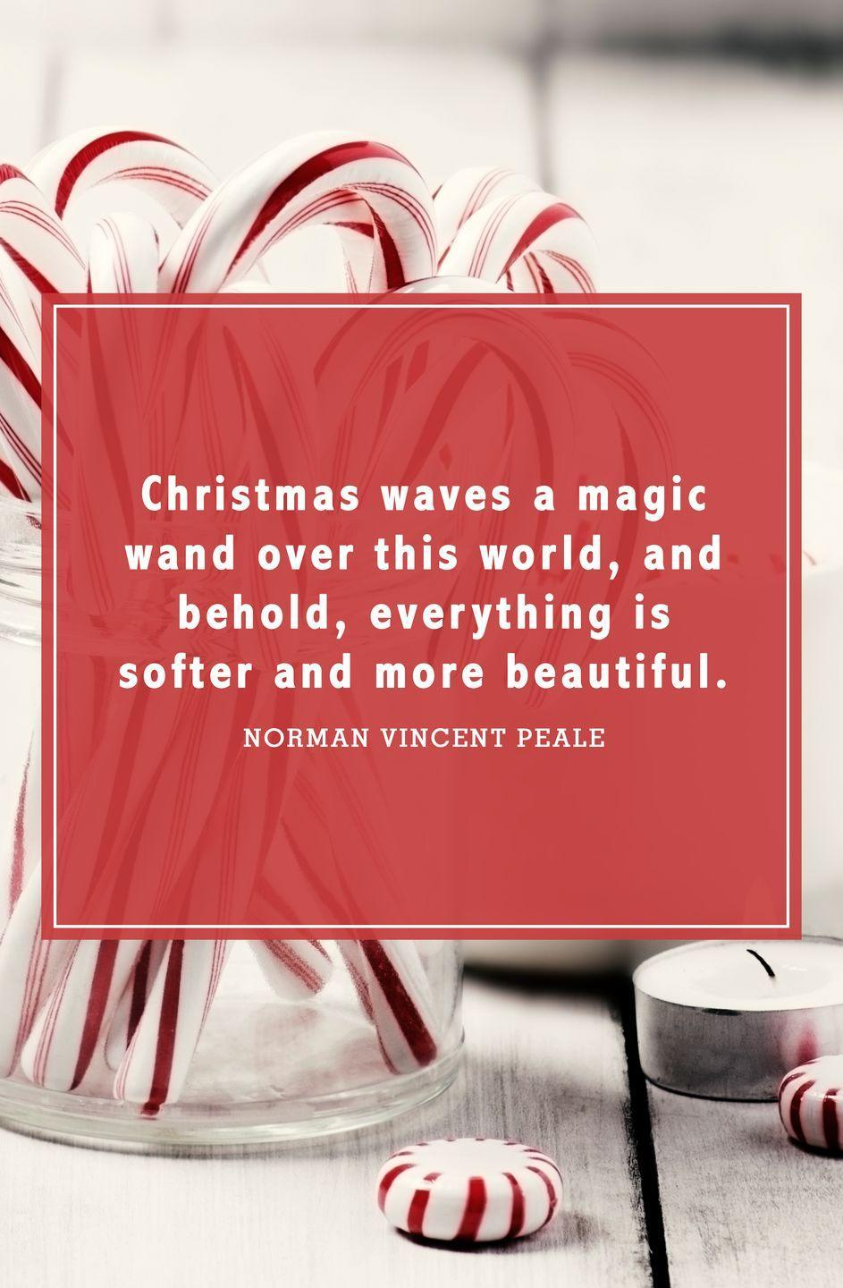 """<p>""""Christmas waves a magic wand over this world, and behold, everything is softer and more beautiful.""""</p>"""