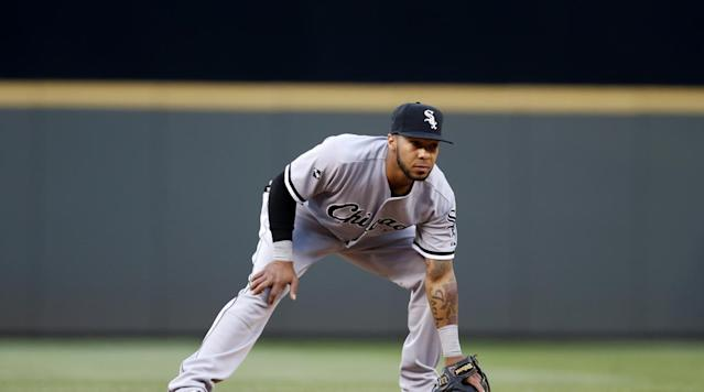 The White Sox released incumbent second baseman Brett Lawrie early in camp, and Tyler Saladino, a utilityman in starter's clothing, has been holding down the job until Yoan Moncada is ready.