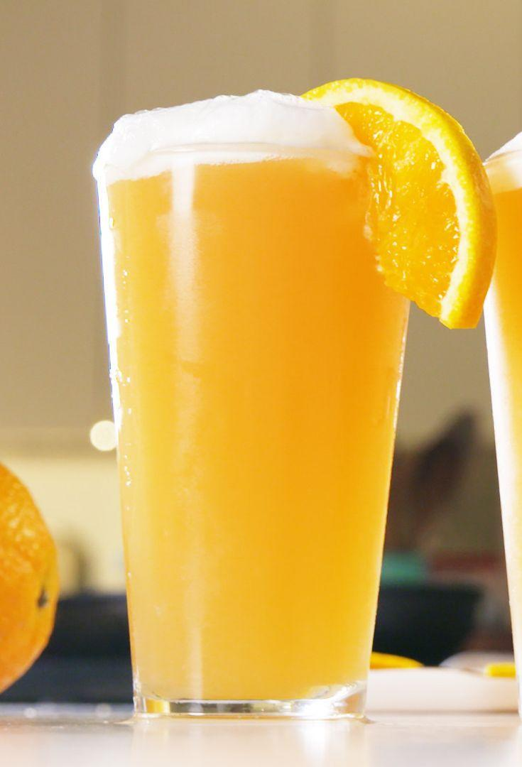 "<p>On Game Day, swap the champagne for beer to make Beermosas.</p><p>Get the recipe from <a href=""https://www.delish.com/cooking/recipe-ideas/a21100080/beermosas-recipe/"" rel=""nofollow noopener"" target=""_blank"" data-ylk=""slk:Delish"" class=""link rapid-noclick-resp"">Delish</a>.<br></p>"