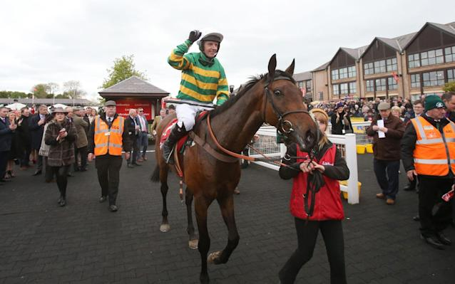 <span>Fehily celebrates his win</span> <span>Credit: PA </span>