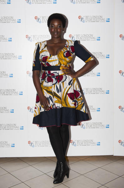 """Actress Wunmi Mosaku arrives during the BFI London Film Festival at the premiere of """"Citadel"""" on Friday, Oct. 19, 2012, in London. (Photo by Ki Price/Invision/AP)"""