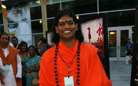 Nithyananda is believed to be living off the coast of Ecudaor  - Credit: Michael Buckner/Getty Images)
