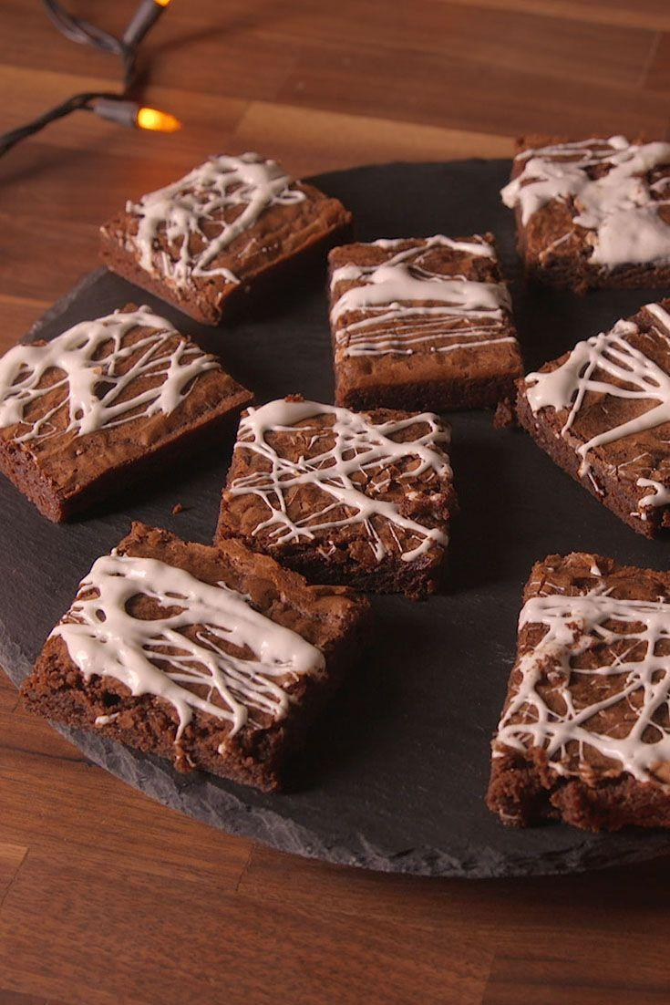 """<p>Here's the super easy way to dress up a box of brownies.</p><p>Get the recipe from <a href=""""https://www.delish.com/cooking/recipe-ideas/recipes/a49654/cobweb-brownies-recipe/"""" rel=""""nofollow noopener"""" target=""""_blank"""" data-ylk=""""slk:Delish"""" class=""""link rapid-noclick-resp"""">Delish</a>. </p>"""