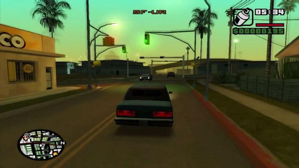 <p>The last of the Grand Theft Autos before a new generation of consoles, <em>San Andreas </em>was by far Rockstar's most ambitious outing. There were over 200 cars in this game, along with an almost dizzying amount of player modification available: You could choose to have your character hit the gym and get buffed up, or have him hit the local fast food joints and gain a spare tire around the waistline. </p>