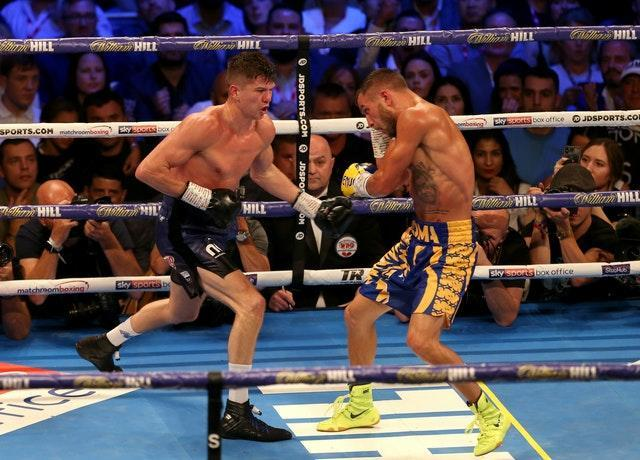 Luke Campbell, left, admitted he was disappointed in his performance against Vasyl Lomachenko in August 2019 (Steven Paston/PA)