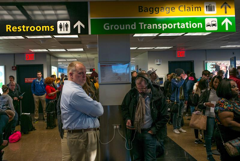NEW YORK, NY - APRIL 20: Departing passengers wait to board a Southwest Airlines plane April 20, 2018 at LaGuardia Airport in New York City. Southwest Airlines is headquartered in Dallas, Texas. (Photo by Robert Nickelsberg/Getty Images)