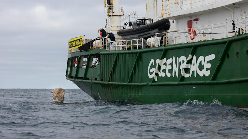 Greenpeace vows to continue building boulder protection of marine reserve