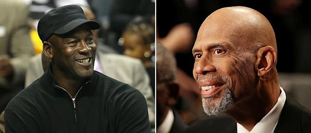 Michael Jordan and Kareem Abdul-Jabbar are two of 21 people who will receive the Presidential Medal of Freedom this year. (Getty Images)