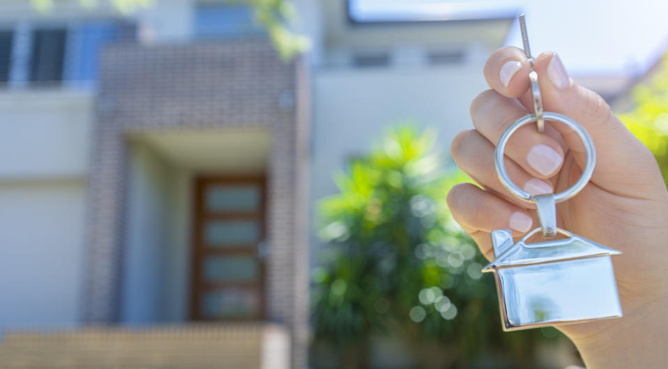 How do you balance buying a home while selling the old one? Source: Getty