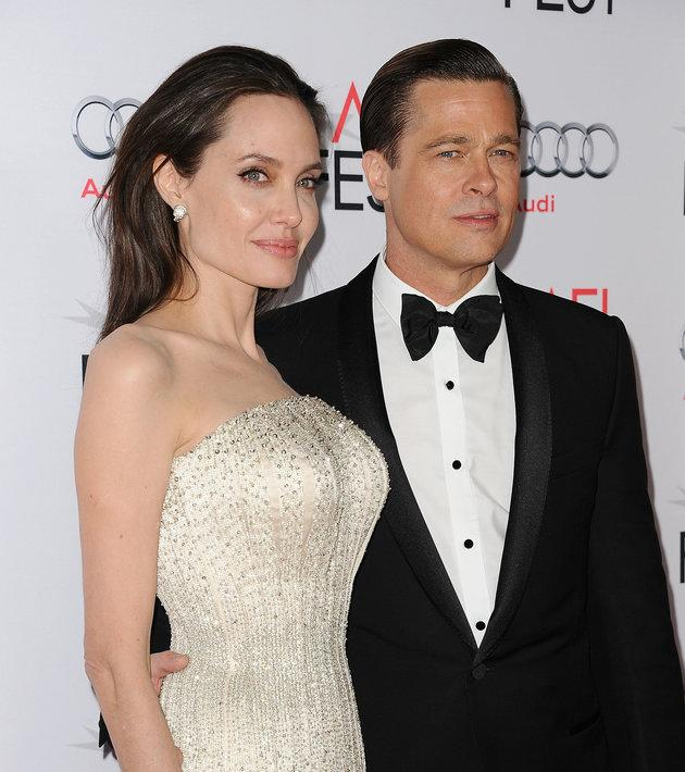 Angelina and Brad in their final public appearance as a couple in 2015