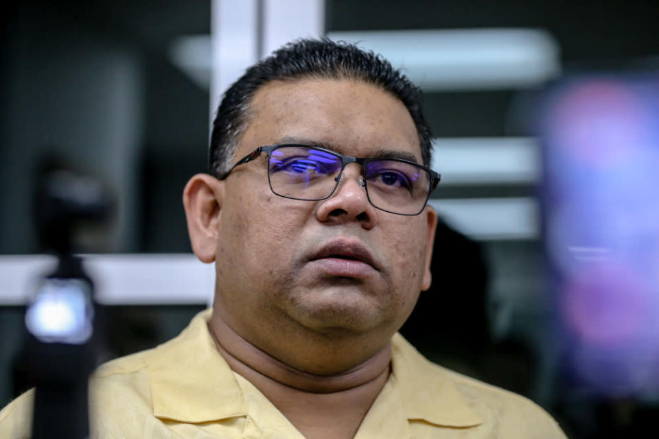 Datuk Lokman Noor Adam said he would be investigated under Section 233 of the Communications and Multimedia Act 1998, and detained last night for his remand application today. — Picture by Firdaus Latif
