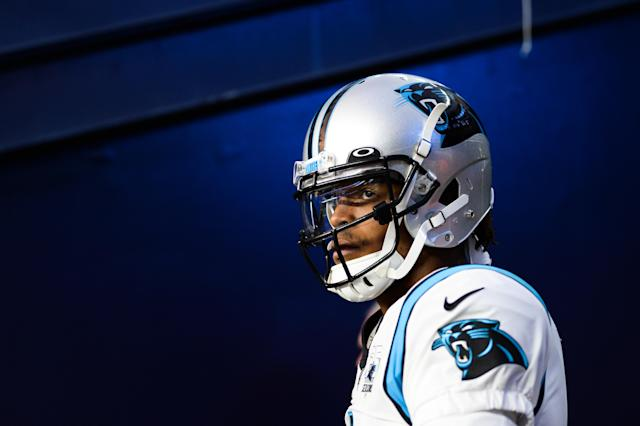 There are good arguments to be made for Bill Belichick and the Patriots going after Cam Newton as their new quarterback. (Kathryn Riley/Getty Images)