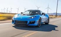 """<p>The <a href=""""https://www.caranddriver.com/lotus/evora-gt"""" rel=""""nofollow noopener"""" target=""""_blank"""" data-ylk=""""slk:Evora GT"""" class=""""link rapid-noclick-resp"""">Evora GT </a>remains the only street car Lotus currently sells in the United States. And it remains one of the only mid-engine sports cars you can buy with a stick shift. Though a six-speed automatic is available, a six-speed manual is standard and a better match for the Evora's 3.5-liter 416-hp naturally aspirated V-6.</p>"""