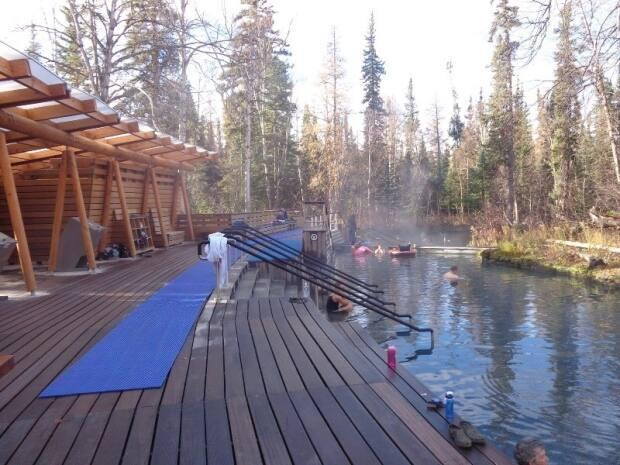 The Liard River Hot Springs are considered the second-largest in Canada. The chief of the Liard First Nation in Watson Lake says he'd like to see geothermal power heating greenhouses and used in other ways to offset diesel use. (Lorraine Bumstead - image credit)