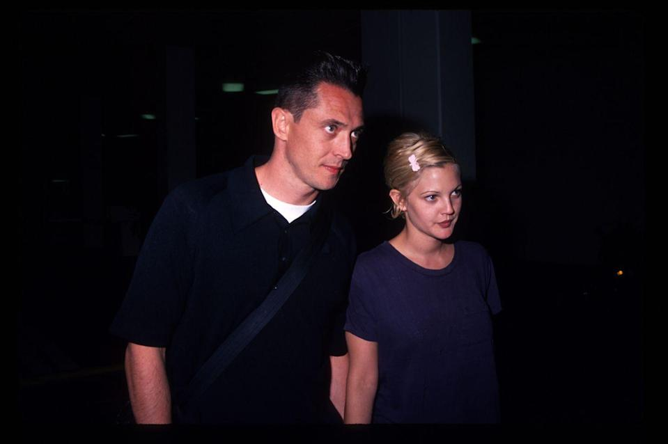 """<p>But before Drew and Tom got together, she was married to bar owner Jeremy. He was her first husband, and they got spontaneously married one night in 1994 after six weeks of dating, when she was 19 and he was 31. <a href=""""https://www.nationalenquirer.com/photos/drew-barrymore-marriage-jeremy-thomas/"""" rel=""""nofollow noopener"""" target=""""_blank"""" data-ylk=""""slk:Drew has said"""" class=""""link rapid-noclick-resp"""">Drew has said</a> of the relationship, """"I realized my mistake on the day I married him,"""" and she filed for divorce less than two months later.</p>"""