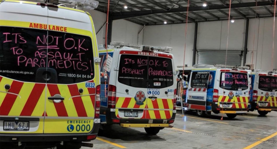 Fair Go paramedics showed their frustrations at the verdict through messages on their ambulances. Source: Twitter/FairGoParamedic