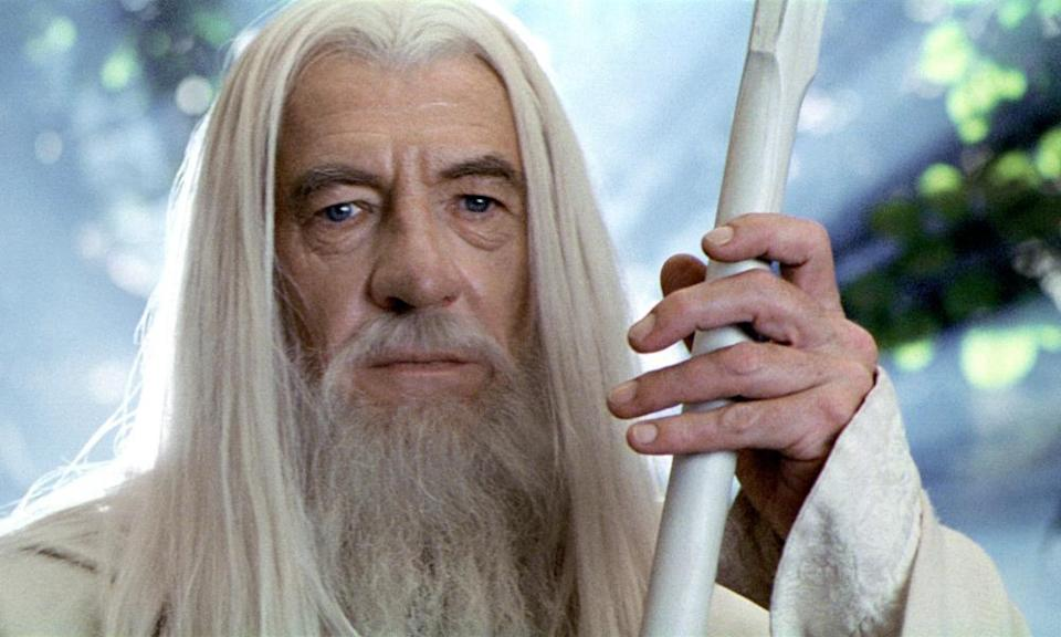 Arch goodie: as Gandalf in The Lord of the Rings: The Two Towers.