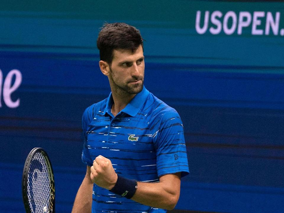 Three-time US Open champion and world No1 Novak Djokovic: AFP