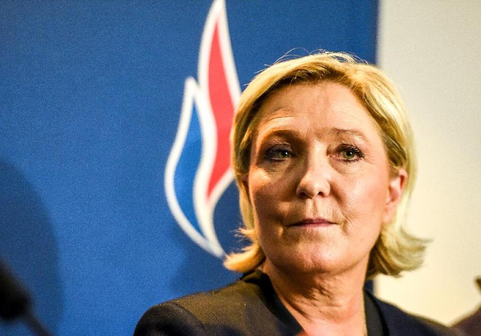 "France's Marine Le Pen hopes a rebrand will show that her far-right party can be ""a party of government"" (AFP Photo/PHILIPPE HUGUEN)"
