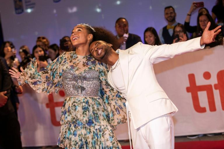 "US actors Algee Smith (R) and Amandla Stenberg attend the premiere of ""The Hate You Give"" at the Toronto International Film Festival in Toronto, Ontario, September 7, 2018"