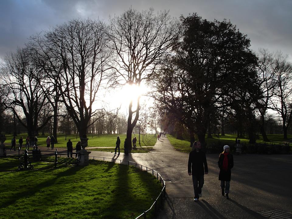 """<b>Hyde Park</b><br> Walkers enjoy a cold winter day in Hyde Park, London. <br>Photograph by <a href=""""http://ngm.nationalgeographic.com/myshot/gallery/8923"""" rel=""""nofollow noopener"""" target=""""_blank"""" data-ylk=""""slk:Georgios Stavrinides"""" class=""""link rapid-noclick-resp"""">Georgios Stavrinides</a>, <a href=""""http://ngm.nationalgeographic.com/myshot/"""" rel=""""nofollow noopener"""" target=""""_blank"""" data-ylk=""""slk:My Shot"""" class=""""link rapid-noclick-resp"""">My Shot</a>"""