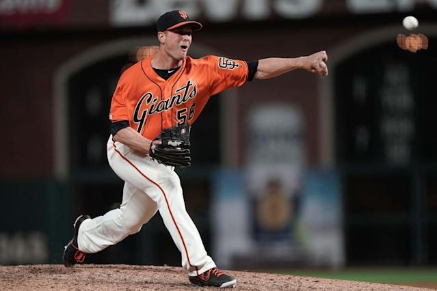 San Francisco Giants relief pitcher Tony Watson is making $3.5 million this year with a $2.5 million player option for next year or a $500,000 buyout. (USA TODAY Sports)
