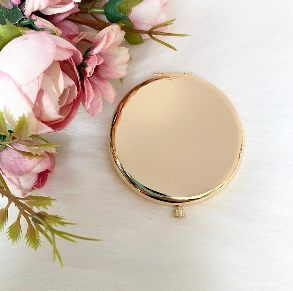 <p>They'll add this <span>HunyLondonUK Pocket Mirror</span> ($8) to their daily essentials.</p>