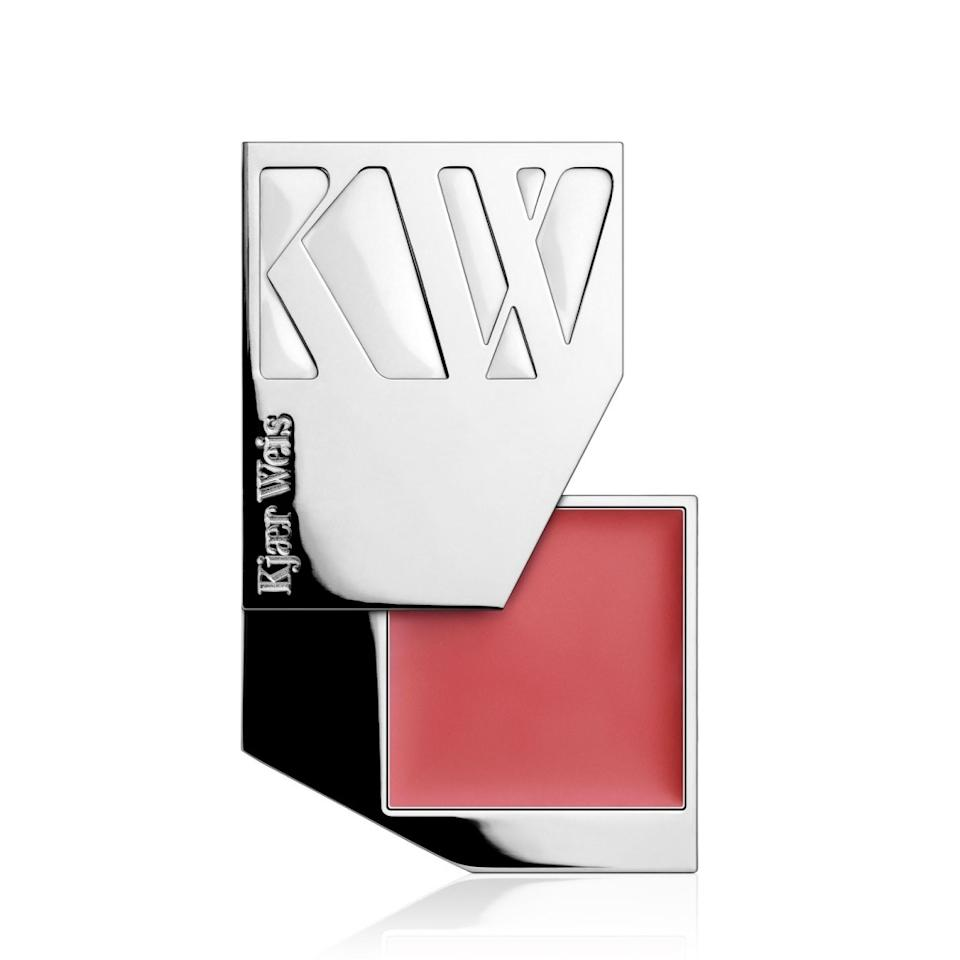 "<p>This creamy formula melts right into your cheeks and comes in the coolest packaging ever. And it's refillable. <b><a href=""https://kjaerweis.com/shop/cream-blush-blossoming/"">Kjaer Weis Cream Blush</a> ($56)</b></p>"