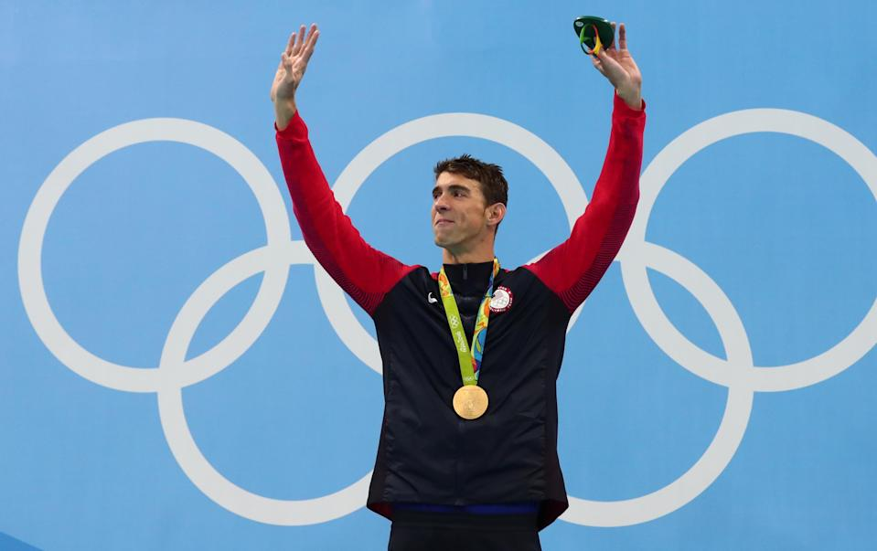 Michael Phelps: 28 medals. Phelps has earned 23 gold, three silver and 2 bronze medals in his career. He is the most decorated American Olympic athlete in history. Phelps' Olympic career spanned from 2000-2016.