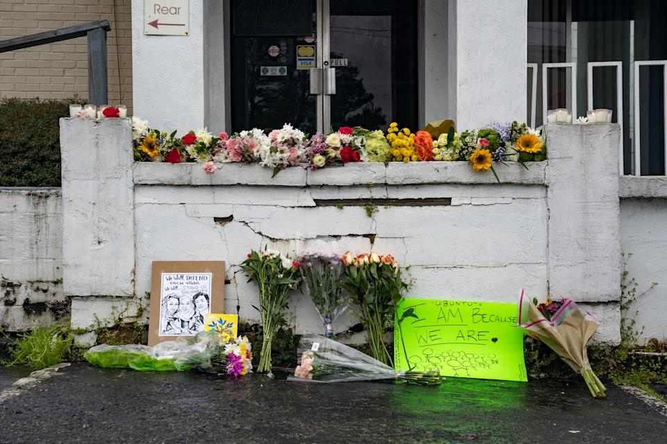 Memorial at the site of two shootings