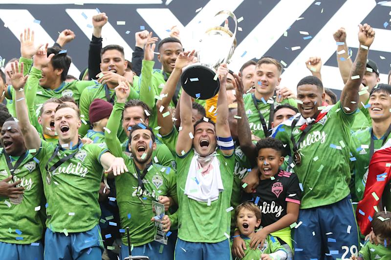The defending champion Seattle Sounders and MLS's 25 other teams will return to action July 8. (Abbie Parr/Getty Images)