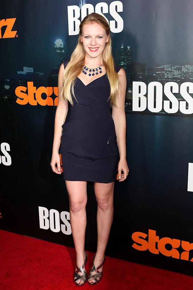 "<a href=""/emma-bell/contributor/1291732"">Emma Bell</a> arrives at the premiere of Starz's ""<a href=""/boss/show/46953"">Boss</a>"" at ArcLight Cinemas on October 6, 2011 in Hollywood, California."