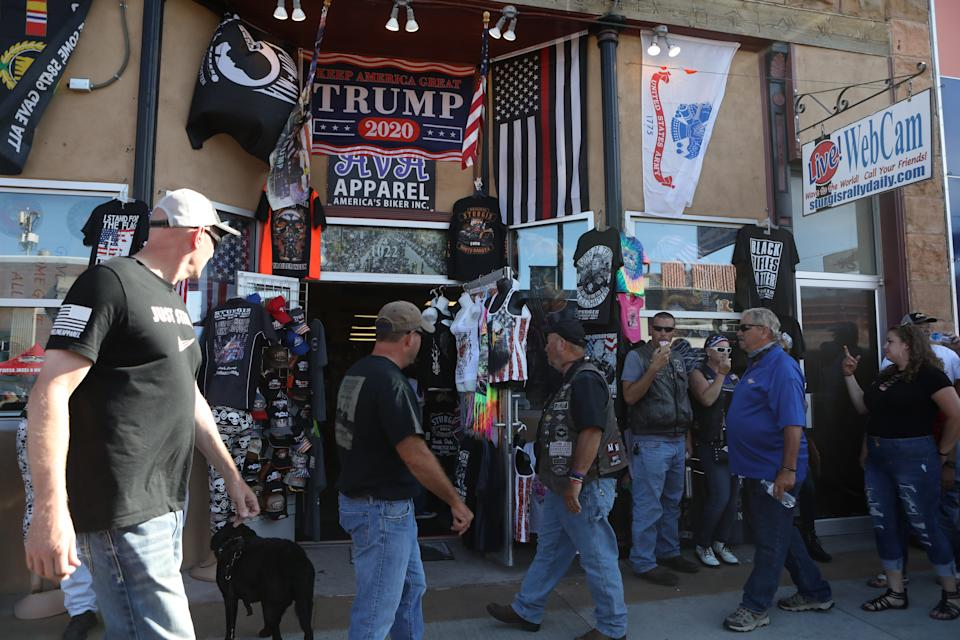 Trump 2020 swag is flying off the shelves at this year's Sturgis Motorcycle Rally.