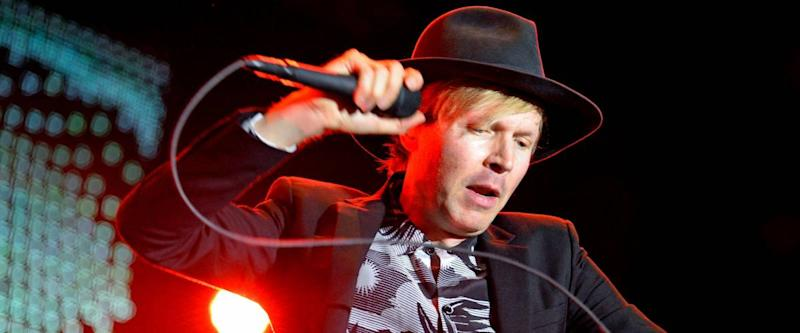 MADRID - SEP 13: Beck (legendary American musician, singer, songwriter, and multi-instrumentalist) concert at Dcode Festival on September 13, 2014 in Madrid, Spain.