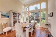 """<p><b><b>Fad to ditch from 2015:</b> Burlap details</b><br></p><p>Burlap is too harsh for indoor use, and is far overplayed for another year in the spotlight. Instead, homeowners will gravitate toward softer natural fibers that are more suitable for throw blankets, pillows and rugs. <i>Courtesy of <a href=""""http://www.zillow.com/digs/country-dining-rooms-6733727043/"""" rel=""""nofollow noopener"""" target=""""_blank"""" data-ylk=""""slk:Zillow Digs"""" class=""""link rapid-noclick-resp"""">Zillow Digs</a>.</i></p>"""