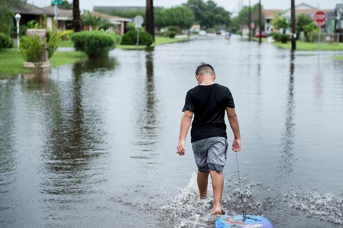 Hurricane Harvey is the most powerful storm to hit the US mainland in more than a decade, destroying homes, severing power supplies and forcing tens of thousands of residents to flee (AFP Photo/Brendan Smialowski)