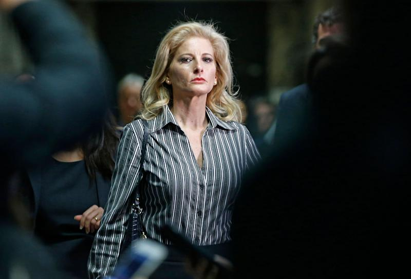 In this Dec. 5, 2017, file photo, Summer Zervos leaves Manhattan Supreme Court. Zervos claims Donald Trump forcibly groped and kissed her in 2007, then defamed her by saying she lied. (Photo: ASSOCIATED PRESS)