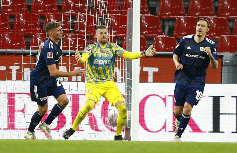 Max Kruse (R) converted the rebound after his penalty was saved to give Union Berlin victory over Cologne